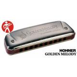 HOHNER GOLDEN MELODY ARGENTE 10 TROUS